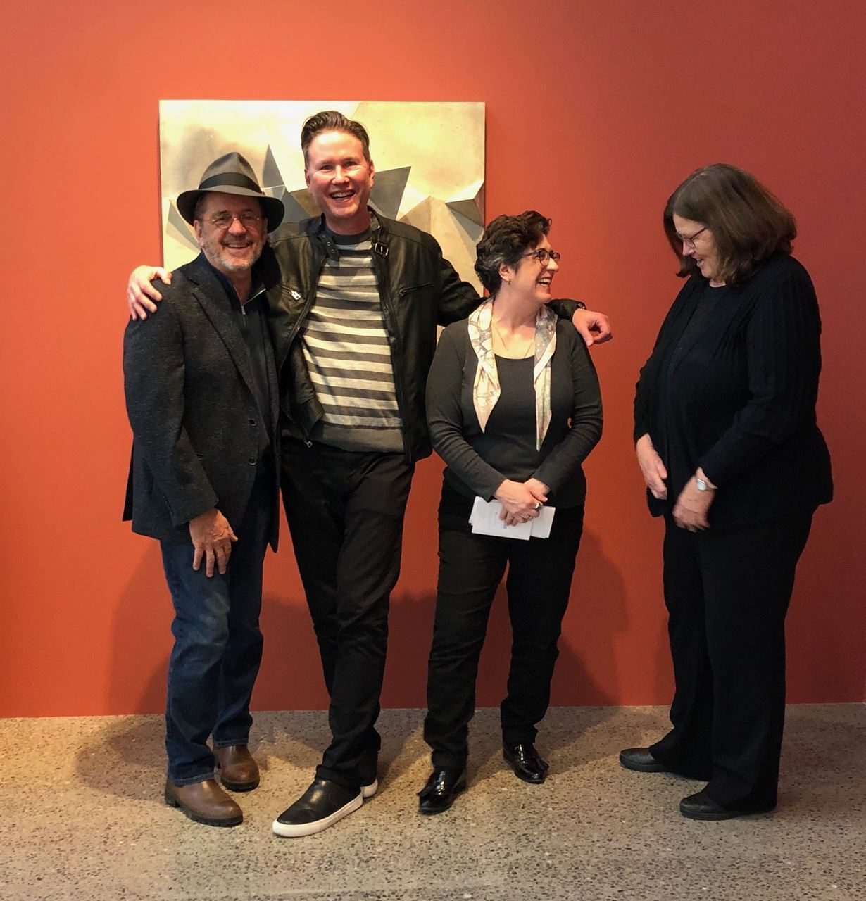 Wayne Higby,Director and Chief Curator, Alfred Ceramic Art Museum; Brian Whisenhunt, Executive Director Rockwell Museum of American Art and MANY Board Member; Erika Sanger, and Susan Kowalczyk, Curator of Collections and Director of Research, Alfred Ceramic Museum